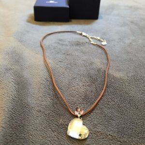 Swarovski heart and butterfly crystal necklace